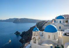 L'île de Santorin, en Grèce