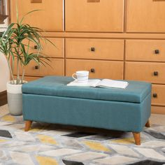 Christopher Knight Home Harper Mid Century Storage Ottoman Bench | Overstock.com…