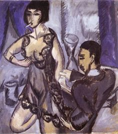 Expressionist Painter Ernst Ludwig Kirchner (German: - Couple in a Room Ernst Ludwig Kirchner, Ludwig Meidner, Expressionist Artists, Harlem Renaissance, Art Database, Art Moderne, Illustrations, Art Museum, Les Oeuvres