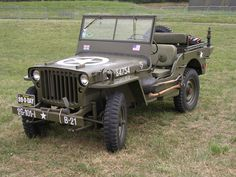WWII Army Jeep - always interesting to see how sparse they are. Often at air shows with vintage aircraft.