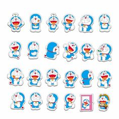 Doraemon Stickers - Thurfy Cartoon Stickers, Tumblr Stickers, Cool Stickers, Printable Stickers, Doraemon Wallpapers, Cute Cartoon Wallpapers, Doodle Art Name, Doraemon Cartoon, Unicorn Drawing