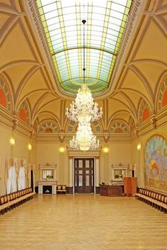 Art Nouveau interior of Zbiroh castle by Alfons Mucha in Central Bohemia, Czechia.