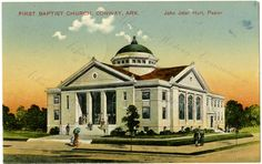 First Baptist Church in Conway, postmarked 1916 AHC1335