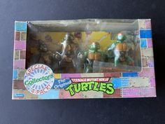 1992 4-Pack Collector Boxed Set Ninja Turtle Toys, Ninja Turtles, Neca Figures, Action Figures, Teenage Mutant Ninja, Katana, Tmnt, The Collector, Statues