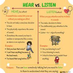 Hear vs. Listen