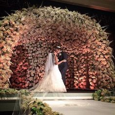 @brettmatthewsphotographer never seizes to amaze us with their photography! This amazing chuppah design is by @metrofloral. Gorgeous! #BrettMatthewsPhotography #nycwedding #wedding2015 #luxurywedding #overthetop #inlove #togetherforever #iphoneonly #weddi