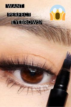 easy up do Easy To Use Making my eyebrows is always the hardest part when I am doing make up, I already use an eyebrow template to draw a pretty eyebrow but it is still look ugly, eith Eyebrow Makeup Tips, Eyeshadow Makeup, Makeup Videos, Makeup Eyebrows, Eye Brows, Contour Makeup, Eyebrow Pencil, Mascara, Eyebrow Template