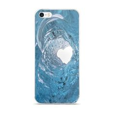 iPhone 5/5s/Se, 6/6s, 6/6s Plus Case with heart in Icelandic glacier cave.