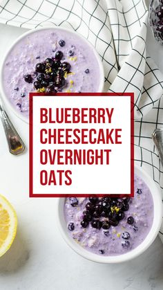 Orange cake without flour - HQ Recipes Blueberry Overnight Oats, Vegan Overnight Oats, Blueberry Oat, Blueberry Cheesecake, Overnight Breakfast, Blueberry Biscuits, Blueberry Breakfast, Vegan Breakfast, Healthy Breakfast Options