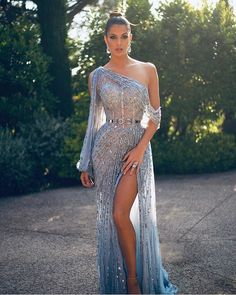 Miss Universe France kills this gorgeous sheer blue beaded side slit gown for This look is stunning. 2 dernières pour la route 🙈 Still obsessed with this look ! Thanks to my amazing team ✨ Toutes les infos taguées sur la photo 😁 Glam Dresses, Pretty Dresses, Fashion Dresses, Sexy Dresses, Wedding Dresses, Long Dresses, Summer Dresses, Best Prom Dresses, Long Elegant Dresses
