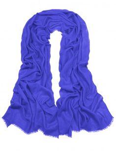 Dahlia Women's Fine Merino Wool Pashmina Scarf (80s) - Solid Color