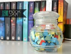 Cool idea, a tbr book jar. Different papers mean different genres so you still have some choice in what kind of book you're gonna read.