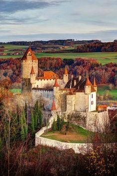 Lucens Castle in Switzerland.