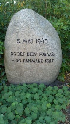 In Memory of the end of World War II. Freedom game to Denmark. Brande,  Jutland, DK It became Spring and Denmark free!
