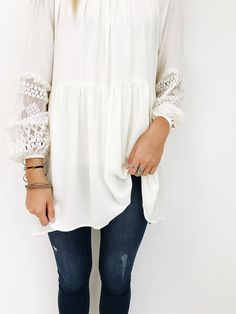 Lace Sleeve Blouse | ROOLEE