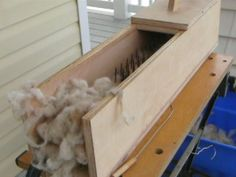build your own fiber picker, download plans, cleaning and picking wool