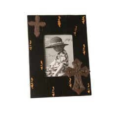 Wilco Imports Black Distressed Wood Photo Frame with Metal Cross Accents 9.5-inch x .5-inch x 13-inch Photo Size ( 5 x 7 ) Wilco Imports,http://www.amazon.com/dp/B004AM5JL4/ref=cm_sw_r_pi_dp_Sw-utb1A4SSH9AZV