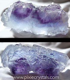 FLUORITE - La Viesca, Asturias, Spain, Photo: Loren Warn : www.pixiecrystals.com : #pixiecrystals -x- Oh I adore this crystal!