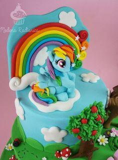 My Little Pony Cake Ideas – Rainbow Dash Cake (http://www.cakecentral.com/gallery/i/3253782/my-little-pony-cake) Twilight Sparkle, Pinkie Pie, Rainbow Dash, Rarity, Fluttershy, Applejack, Unicorn, Spike, Equestria, Ponyville, Princess Celestia, Nightmare Moon