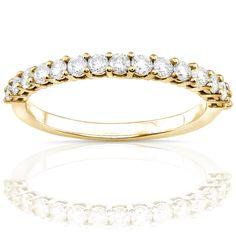 Annello 14k White Gold 1/2ct TDW Diamond Wedding Band