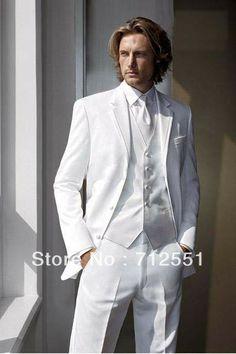 Ems libre de los hombres traje/por encargo baratos diseño blanco de ...