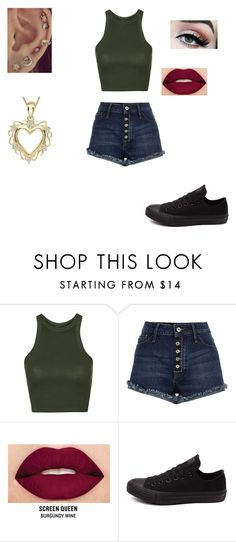 """Untitled #406"" by pufferfishgal on Polyvore featuring Topshop, River Island, Smashbox, Converse and BillyTheTree"