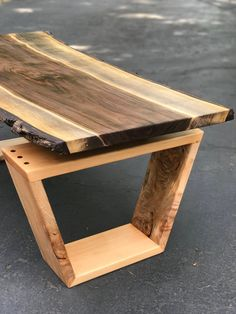 SOLD Live Edge Coffee Table Black Walnut and Maple Coffee Table Floating Slab Coffee Table Modern Live Edge Furniture Table Makeover Black coffee Edge floating Furniture live Maple Modern Slab SOLD Table Walnut Coffee Table Legs, Unique Coffee Table, Rustic Coffee Tables, Coffee Table Design, Wooden Coffe Table, Rustic Wooden Table, Design Table, Table Designs, Live Edge Furniture