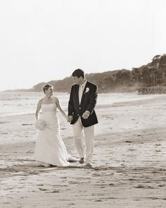 "See the ""Megan and Clayton"" in our A Traditional Pale-Blue Wedding by the Beach in Georgia gallery"