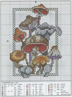 cross-stitch funghi