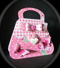 Pink Gingham and polka dots card kit