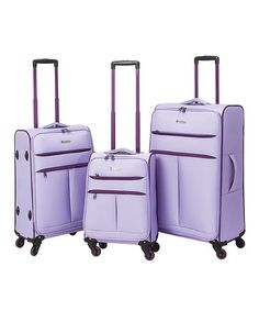 This Lavender Casual Three-Piece Luggage Set is perfect! #zulilyfinds