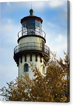Grosse Point Lighthouse Canvas Print by Phyllis Taylor