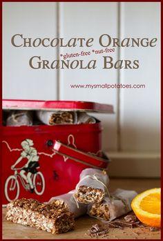 Chocolate Orange Granola Bars...Nut-free AND Gluten-free!