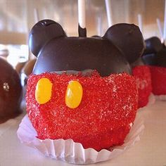 Mickey Mouse Caramel Apple Recipe served at Candy Cauldron in Downtown Disney at Disney World