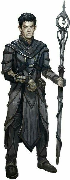 Human Necromancer Wizard - Pathfinder PFRPG DND D&D d20 fantasy