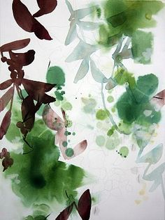 Exquisite watercolor and graphite work on paper