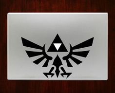 The Legend of Zelda Triforce Symbol Decals Stickers For Macbook 13 Pro Air Decal #RusticDecal
