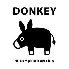Donkey, pumpkin bumpkin #illustration #painting #drawing #art #design