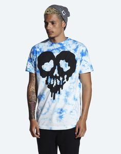 Drop Dead Skull Fucked Blue T-Shirt [out]