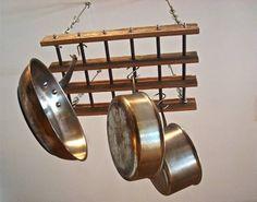 Paneleiro Suspenso Rústico Em Madeira/aço 65cm X 40cm - R$ 399,00