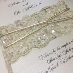 LACE TIE                     royal. vintage. opulent. dramatic. quirky  www.bohemiandreams.co.uk Wedding Props, Lace Wedding, Our Wedding, Luxury Wedding Invitations, Wedding Stationery, My Perfect Wedding, Bridezilla, Projects To Try, Reception