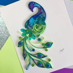Quilled Peacock. Her work is beautiful!