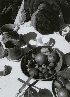 László Moholy-Nagy     Lucia Moholy at the Breakfast Table     c.1926