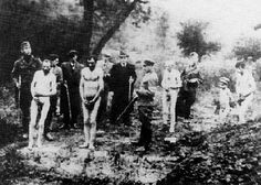 An execution of Jews in Nazi occupied Ukraine.