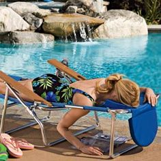 3-in-1 Beach Chair: Read on your stomach without straining your back or neck.