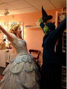 Lindsay K. Northern (Glinda understudy) and Caroline Bowman (Elphaba)