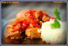 atun con tomate,bonito con pimientos, receta atun