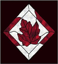 Stained Glass Patterns :: Maple leaf Suncatcher ::
