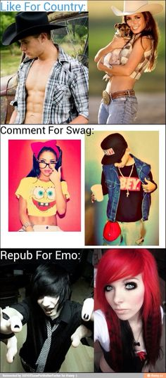 I'm not repinning for emo I just wanted to know what yall are like....ima stalker and I'm good at it. Lol jk maybe.