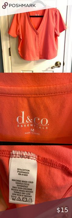 D&Co shrug Denim and Company coral color shrug, size Medium. Like New. Smoke free home. Denim&Co Tops Camisoles Coral Color, Camisoles, Smoke Free, Denim, Best Deals, Cotton, Closet, Things To Sell, Tops